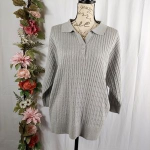 NWOT Cathy Daniels Silver Shimmer Sweater size 1X